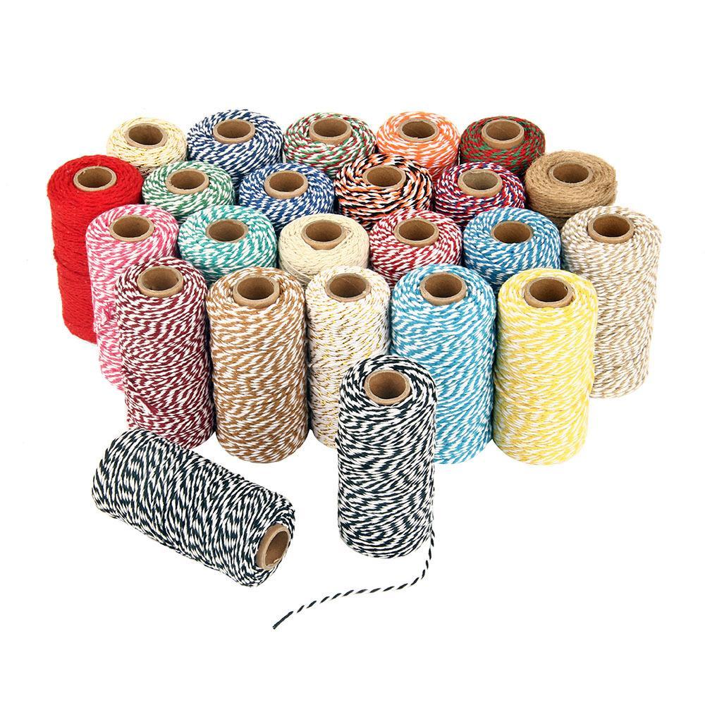 bedbd687d8953 Compre 100 M   Roll Diy Padeiros Torcidos Cordas Cordas De Algodão Corda  Para Home Decor Handmade Presente De Natal Projetos De Artesanato De  Embalagem Diy ...