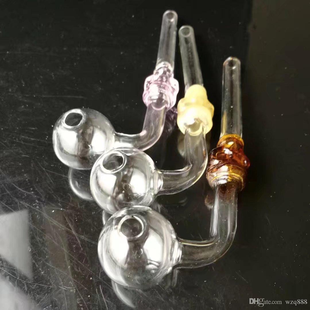 Explicite longue chance de pot, huile courbe bangs en verre gros tuyaux d'eau en verre Oil Pipe Rigs Fumer, Livraison gratuite