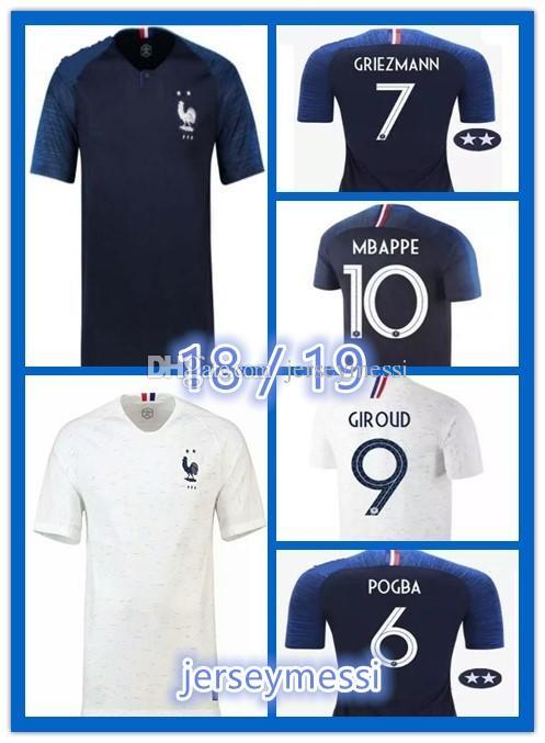 2 Stars Thailand GRIEZMANN MBAPPE POGBA Soccer Jerseys 2018 World Cup  Shirts DEMBELE MARTIAL KANTE Jerseys Football GIROUD Maillot De Foot GRIEZMANN  MBAPPE ... 20b279e89