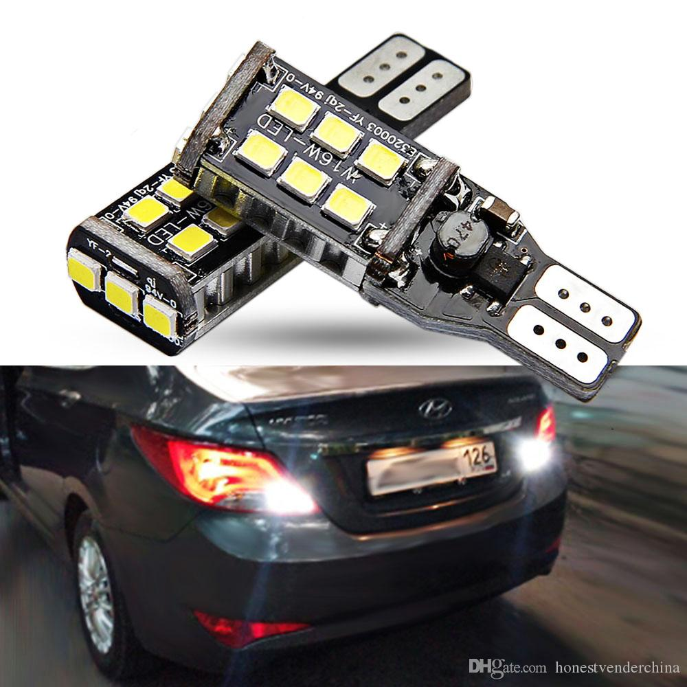 2X T15 LED Canbus OBC Error Free Bulbs t15 LED Wedge Bulb Reverse Lights  921 912 W16W LED Canbus Stop Car lamp White