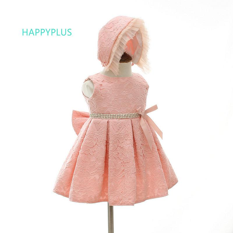 2018 Happyplus Baby Lace Dress For Girls Christening White Pink Baby