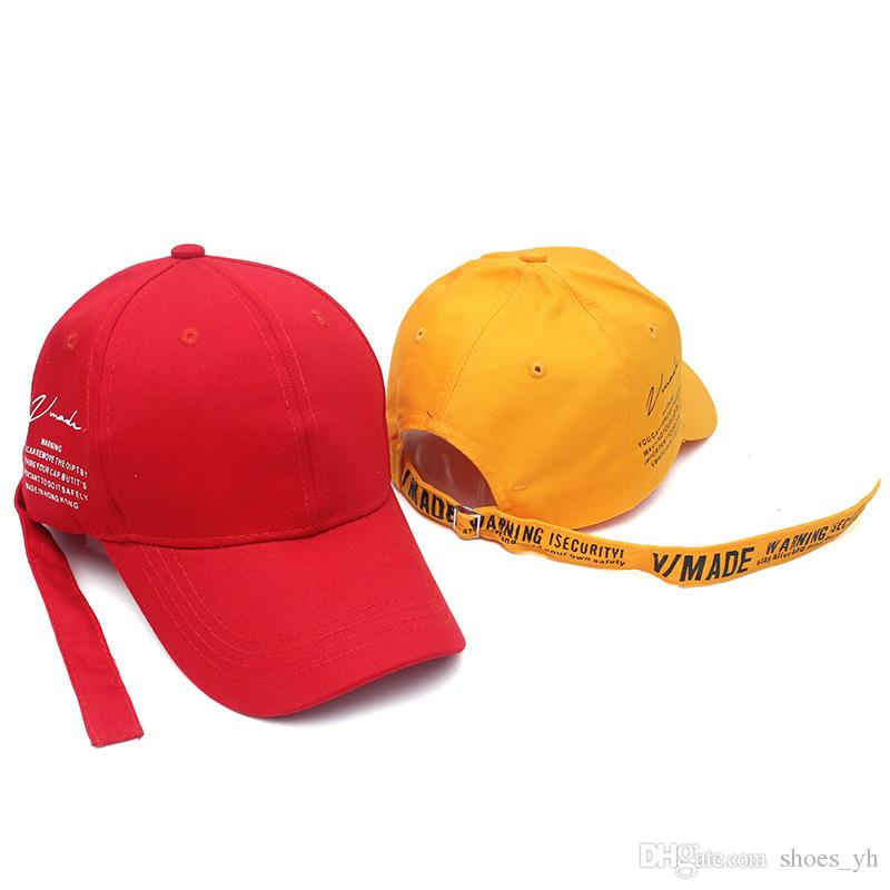 4773b97ae08 Hip Hop Cap Red Letter Print Embroidered Duck Tongue Baseball Cap ...