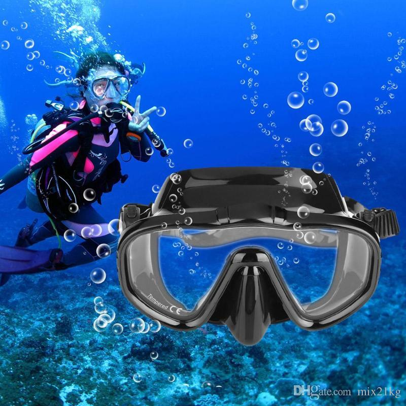 d2e622f0efca Unisex Anti-fog Tempered Glass Diving Mask Snorkeling Goggles Glasses Swim  Eyewear Professional Diving Mask Swimming Eyewear Online with  9.67 Piece  on ...