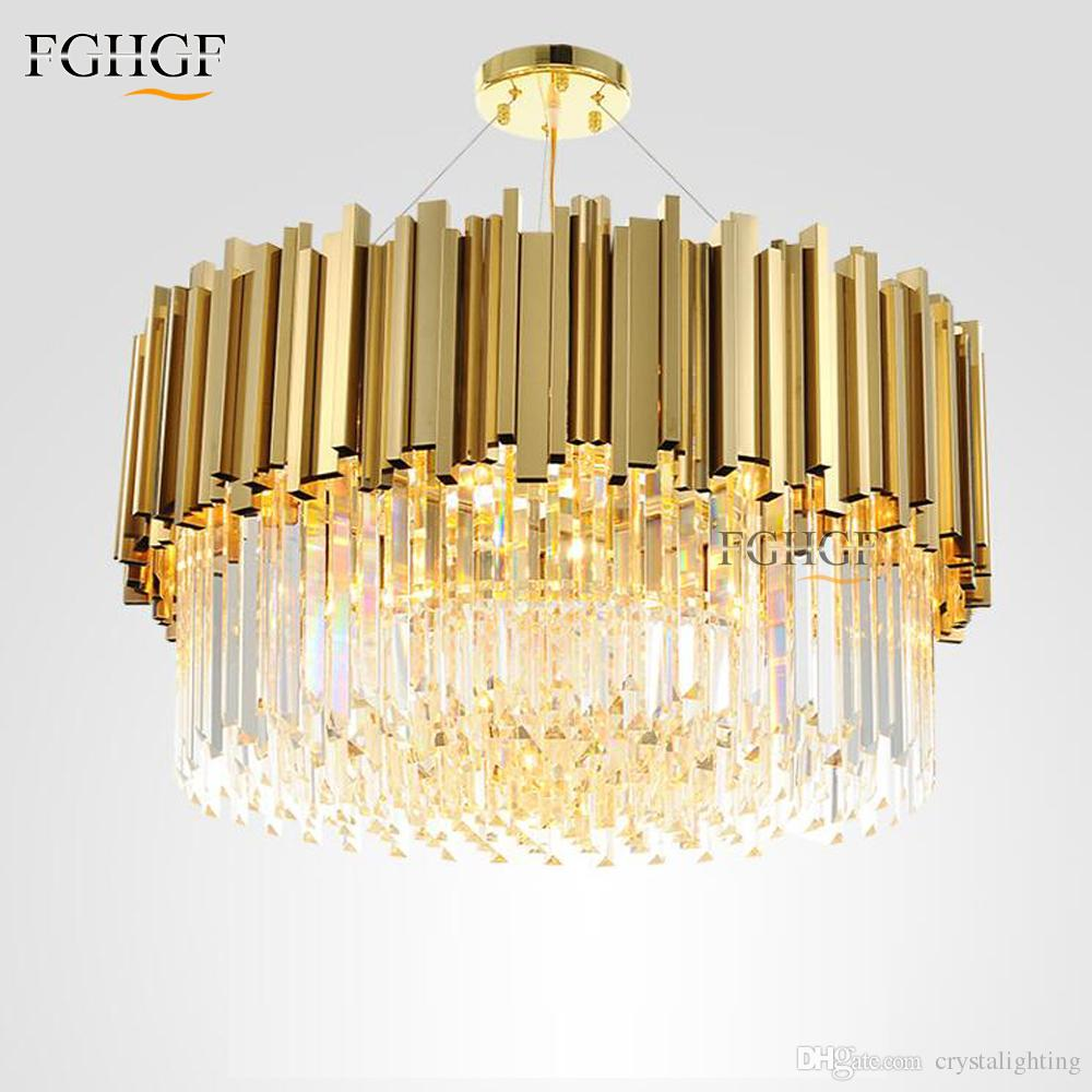 New Arrival Luxury Crystal Chandelier Light Modern Lighting For - Yellow chandelier crystals
