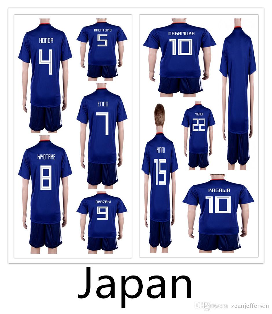 e39d95ab4 2018 World Cup Japan Home HONDA OKAZAK KAGAWA HASEBE NAGATOMO Blue ...