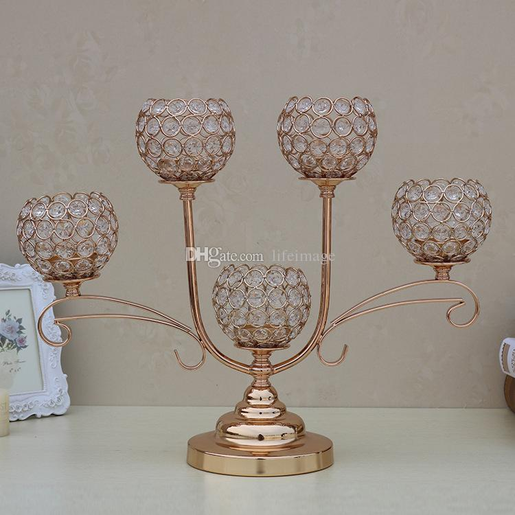 Gold Wedding Candelabra Centerpiece Candle Holders For Wedding Table