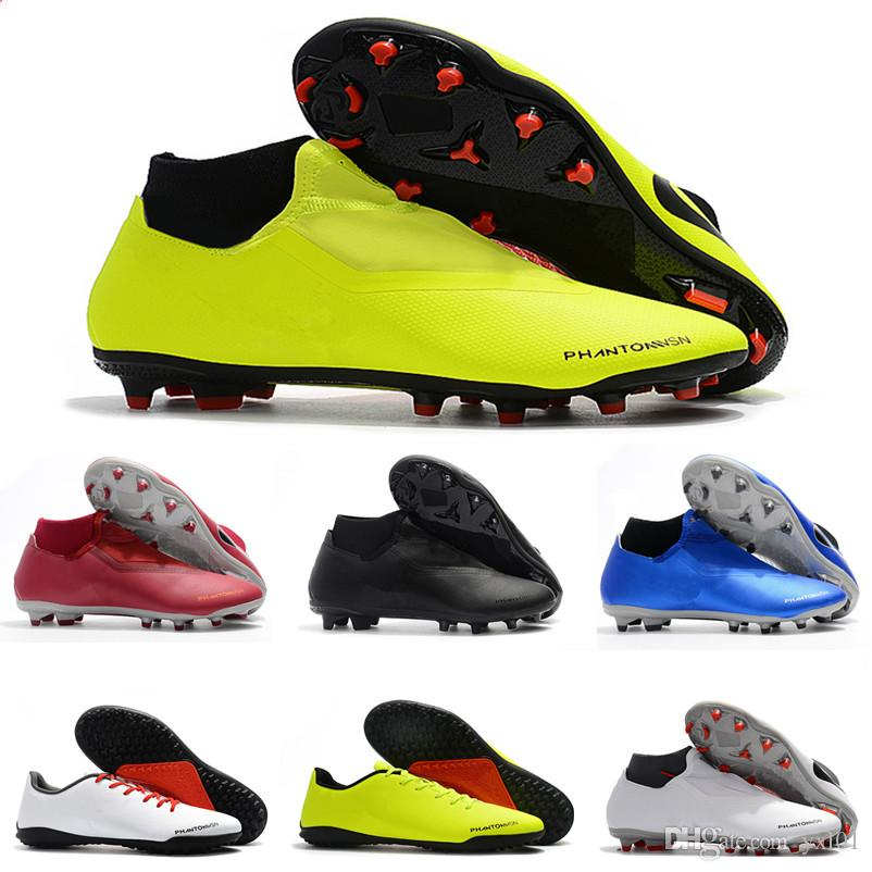86c1ed307cb 2018 Hot Fantasma Vision Elite Academia MG DF FG VSN Chuteiras Sapatos De  Futebol Prego de Alta Qualidade Botas De Futebol Mens Venda Barato  Chuteiras ...