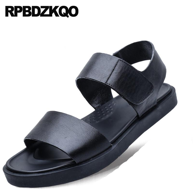 be912460157067 Men Sport Strap Sneakers Roman Designer Beach Open Toe Black Mens Sandals  2018 Summer Outdoor Leather Fashion Flat Shoes Casual Shoe Sale Shoes Uk  From ...