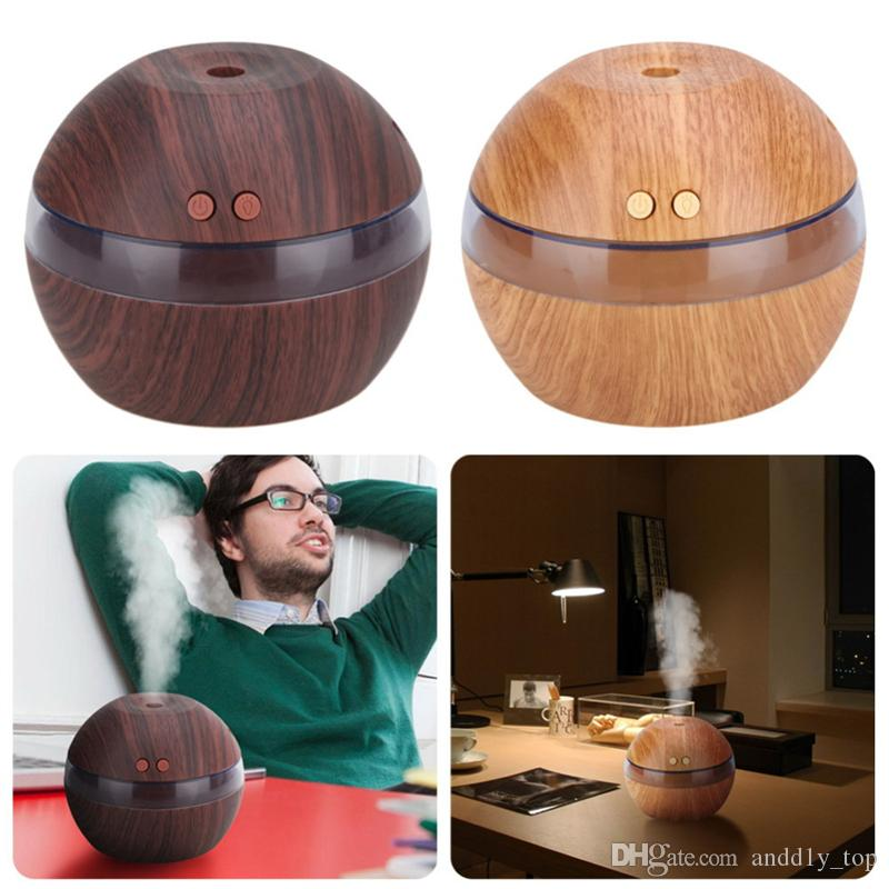 Umidificatore ad ultrasuoni Aroma casa olio di legno Mist diffusore USB umidificatore Qualità moderna fredda Essential Rilassante 300ml