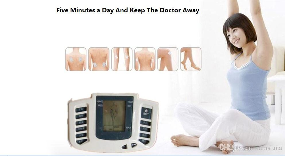 Digital Therapy Machine Tens Massager Electronic Pulse Massager Tens Acupuncture + 6 Electrode Pads + Therapy Slipper