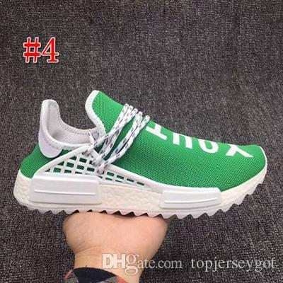47efda7e1 2019 2018 Pharrell Williams Human Race Hu Trail Holi Mens Running Shoes  Peace Passion Happy Youth Heart Human Races Trainers Zapatos Sneakers From  ...