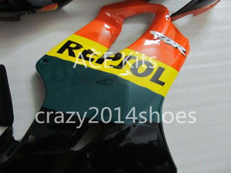 Body repair parts for HONDA CBR600 F4I 01 02 03 CBR600F4I 2001 2002 2003 F4I CBR600 Black Green Fairings set HP16