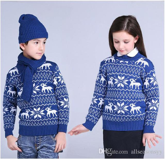 fdf3630bc Sweater For School Boys Girls Winter Christmas Sweaters Children ...