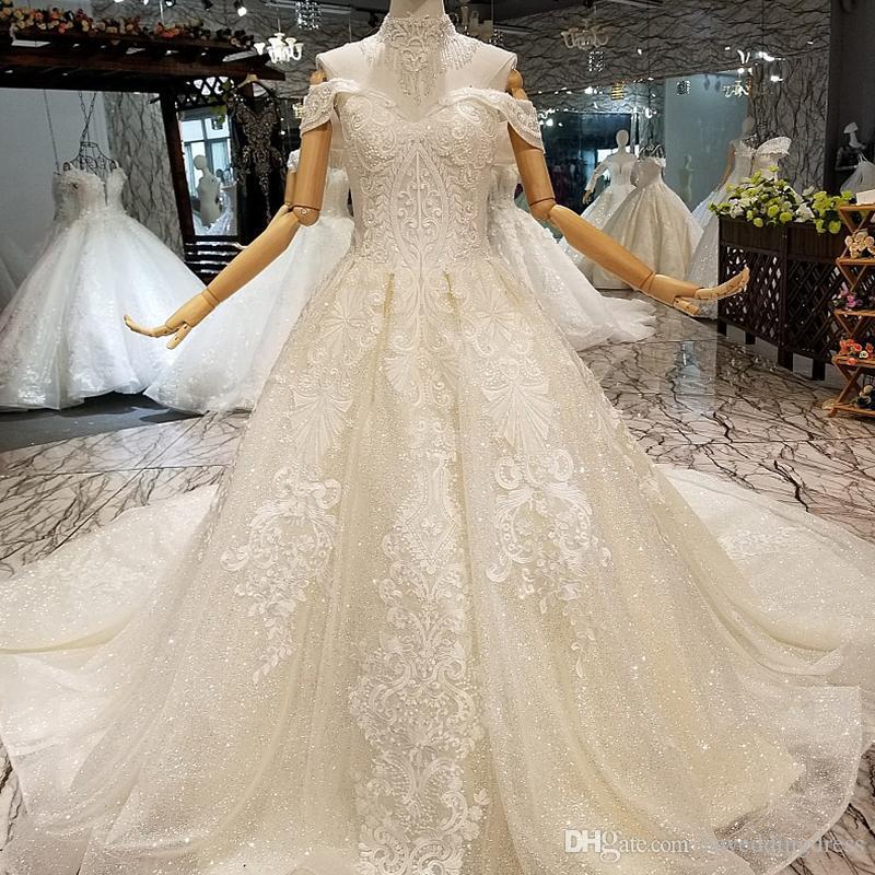 compre bling bling vestido de novia simple encaje brillante con