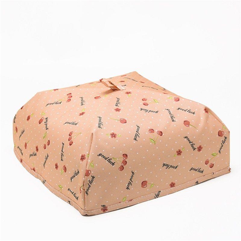 المحمولة الرئيسية معزول الغذاء غطاء الغبار طوي الأرز يغطي مع aluminu احباط أكسفورد النسيج الجدول اكسسوارات المطبخ 4 9zh2 yy