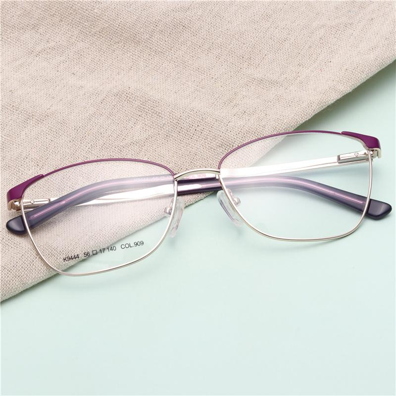 964c5500f873 Metal Full Rim Spectacle Frames For Women Sight Myopia Gold Reading ...