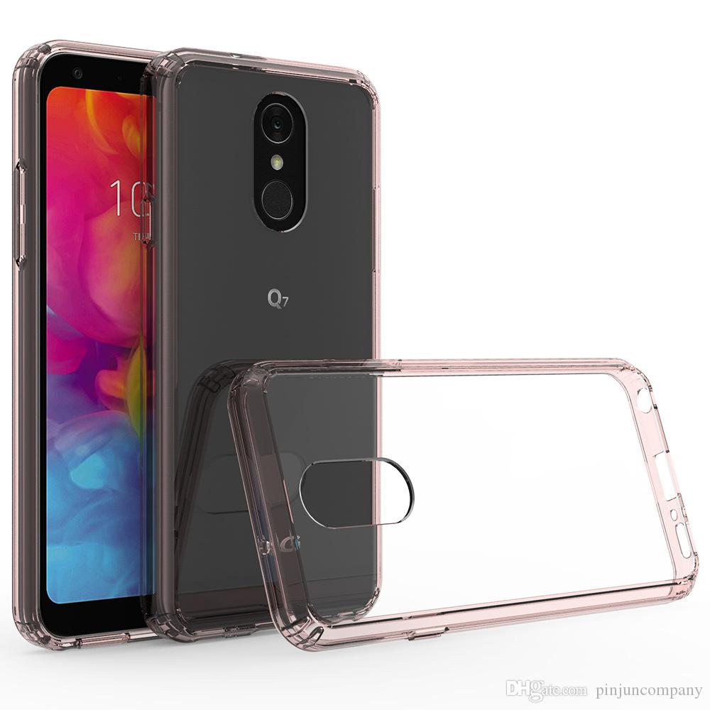 For LG Stylo 4 MetroPCS Shock Proof Transparent Armor Case