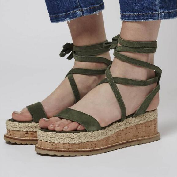 291847b89542d 2018 Summer New Sandals Female Temperament Slope with Wild Increased Fish  Mouth Shoes Cross Straps Roman Shoes Tide Online with  35.87 Piece on  Jiaowsw s ...