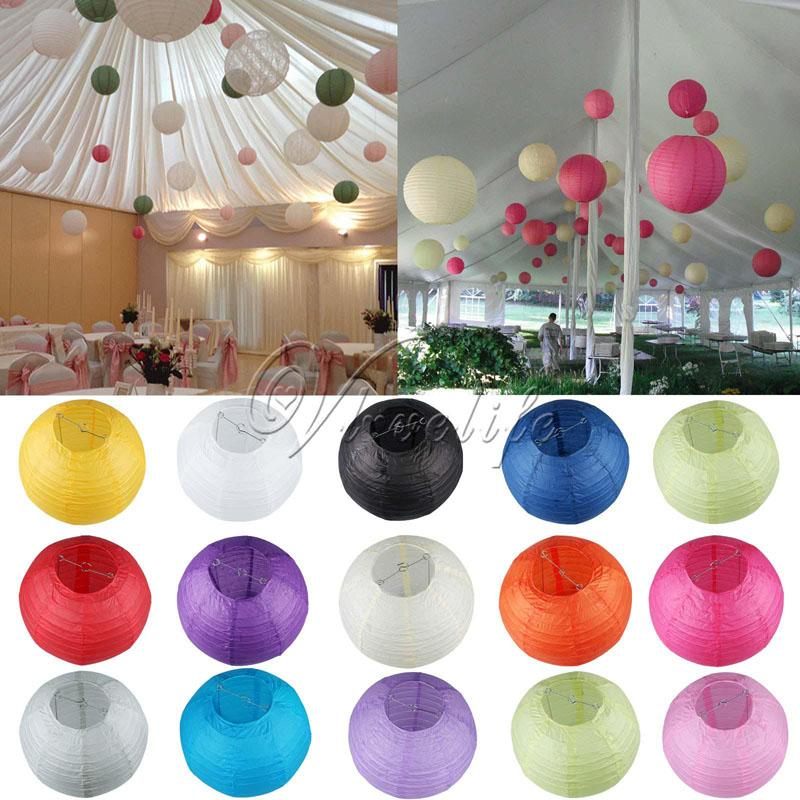 8 20cm Round Paper Lanterns Wedding Birthday Party Decorations