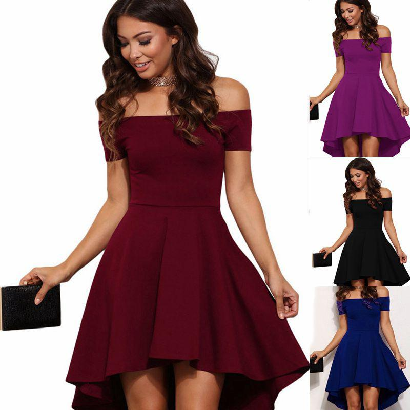 03131d6384b3 Women S 2XL Vintage Summer Elegant Party Burgundy Slash Neck Off Shoulder  Skater Dress Formal Holiday Casual Evening Party Dress Pluse Size Floral  Summer ...
