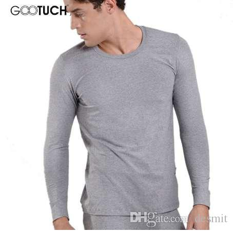 edc9c1369185f 2019 Brand Mens Winter Thermal Underwear Cotton Long Johns Tops Round Neck  Long Sleeve Undershirt Plus Size 4XL 5XL 6XL Ondergoed 019 From Desmit, ...