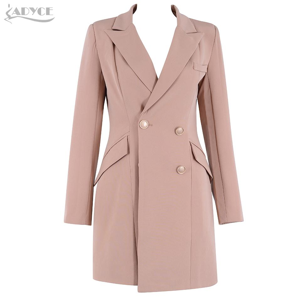 2019 Adyce 2018 New Autuwn Women Coats Trench Vestidos Sexy Deep V Neck  Long Sleeve Women Coats Clubwear Celebrity Runway Party Dress From Vikey13 114a41221300
