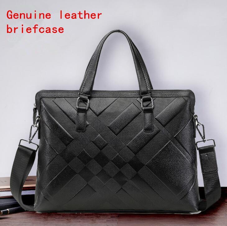 Factory Own Brand Men Bag Fashion Gentleman Leather Handbag First ... 20bd74cebdb80