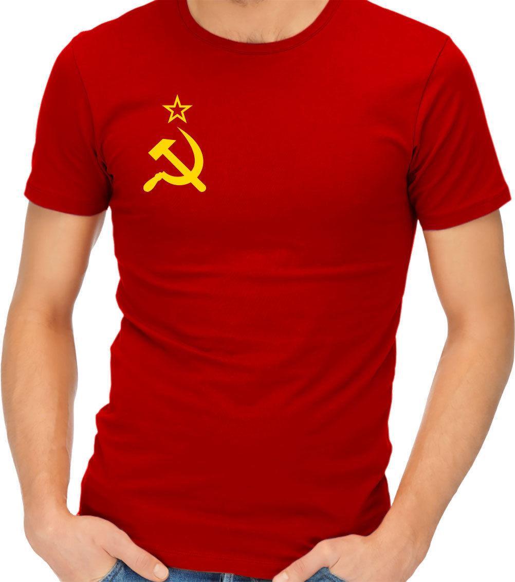 babda86dcace Soviet Flag Hammer And Sickle Communist Communism USSR CCCP T Shirt Tshirt  Tee Top Tees Hot 2018 Summer Comfortable Fabric Tshirts Designs T Shirt S  From ...