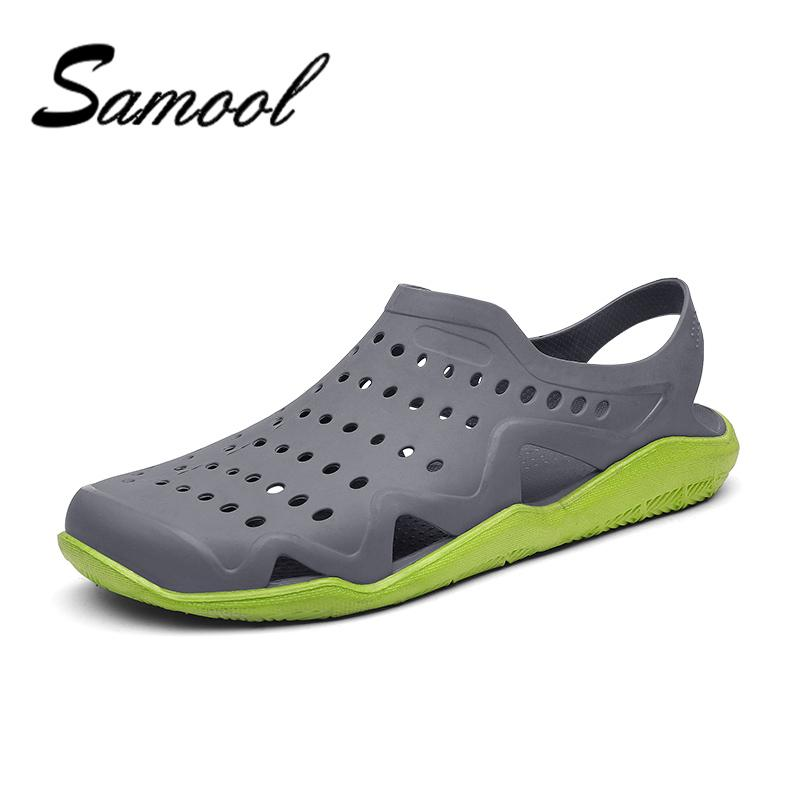 mens summer casual hollow jelly breathable male beach sandals garden shoes mens gladiator slipper beach sandle plus size xy5 platform sandals wedges shoes - Mens Garden Shoes
