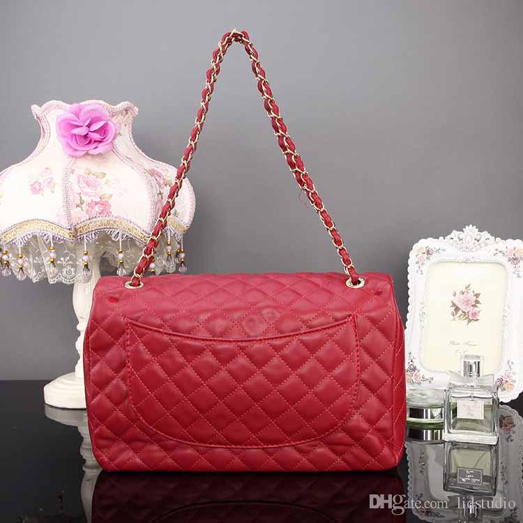 1b8e1f73b6dc Classic Leather Designer Handbags Luxury Famous Brand Handbag Women  Cosmetic Bags Crossbody Bag Lozenge Retro Fashion Leather Chain Shoulder  Wholesale Bags ...
