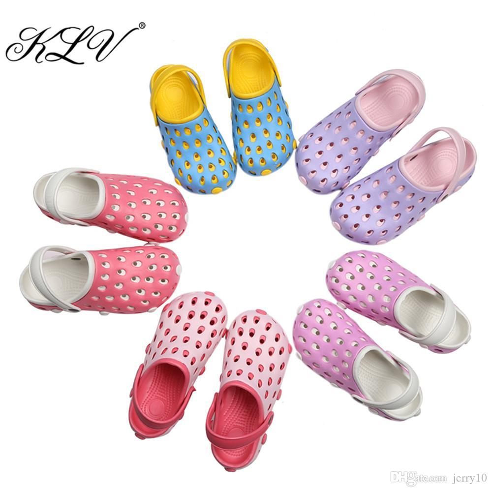 525c27df1f9a KLV EVA Women Clog Summer Croc Beach Shoes Hollow Out Sandals Hole  Breathable Women Shoes Sandals More Colors Jack Rogers Sandals White Wedges  From Jerry10