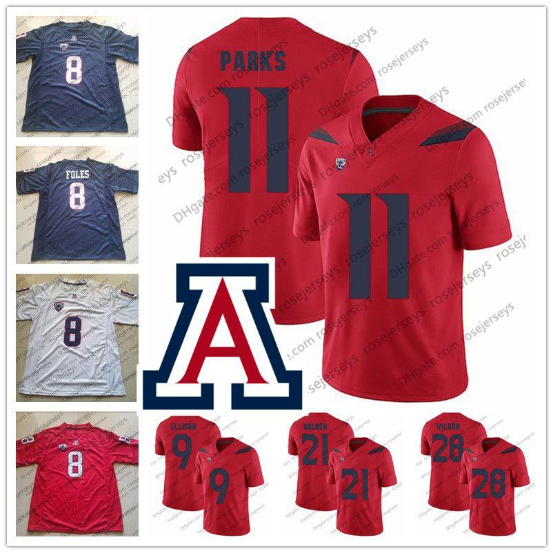 c0bea05d0 NCAA Arizona Wildcats 11 Will Parks 9 Dane Cruikshank 21 Robert Golden 28  Nick Wilson Navy Blue Red White College Football Jerseys S 4XL UK 2019 From  ...