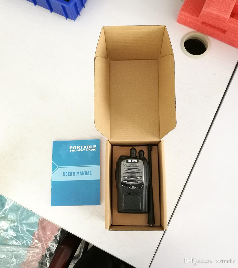 C-150 Handheld Radio Walkie Talkie UHF 400-470MHz 16CH Portable Ham Radio Hf Transceiver Handy Two Way Radio Station