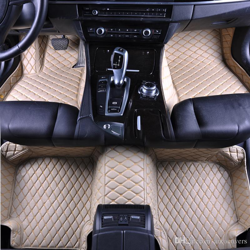 2019 Custom Fit Car Floor Mats Specific Waterproof Pu Leather Eco
