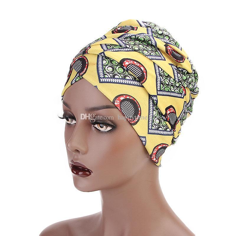 Compre Nuevas Mujeres Multi Uso Turbante Diadema De Impresión Africana  Largo Abrigo De Cabeza Mujeres Musulmanas Extra Turbante Cabeza Envuelve  Hijab Cabeza ... c302e3434b3