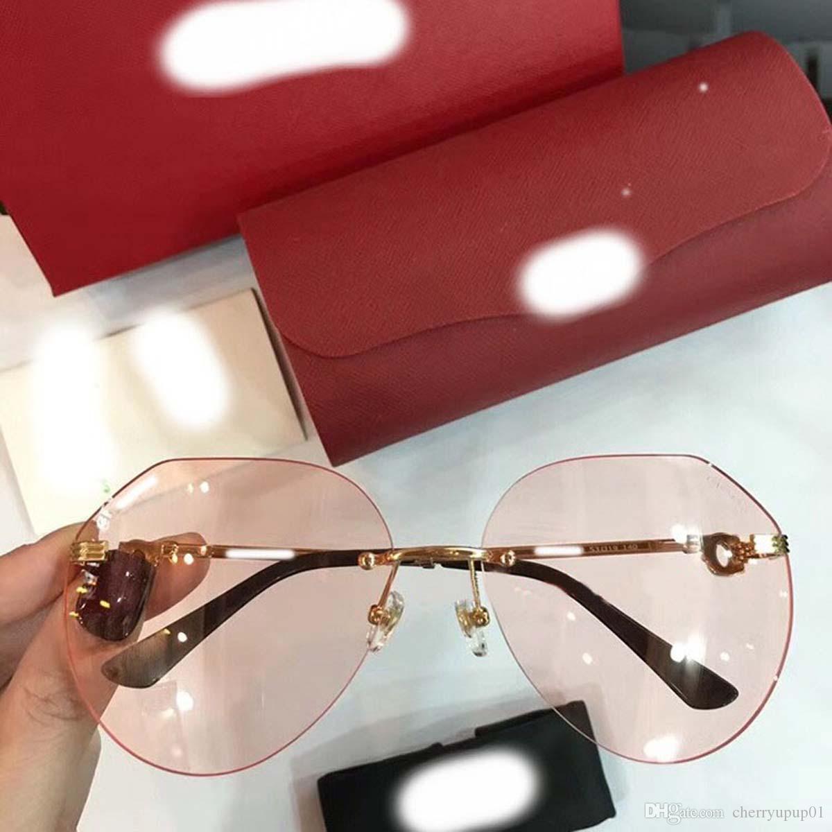 5e239cdeaf981 Compre Marca Designer Óculos De Sol De Alta Qualidade Oversiezed Óculos De  Sol CA0001 Homens Mulheres Óculos De Sol Óculos De Lente Unisex Com Casos  ...