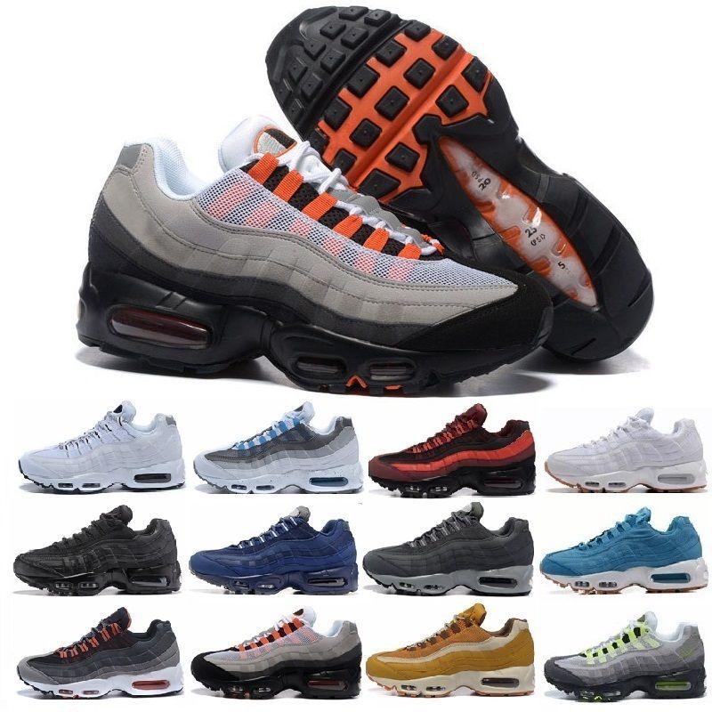 Nike Air Max 95 Nuevo Más Color Drop Shipping men women Famous Air Cushion 95 Mens Deportes Athletic Running Shoes Tamaño del zapato deportivo 36 46