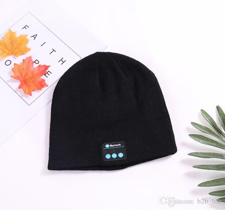 Bluetooth Music Beanie Hat Wireless Smart Cap Headset Headphone Speaker Microphone Handsfree Music Hat OPP Bag Package HHA29