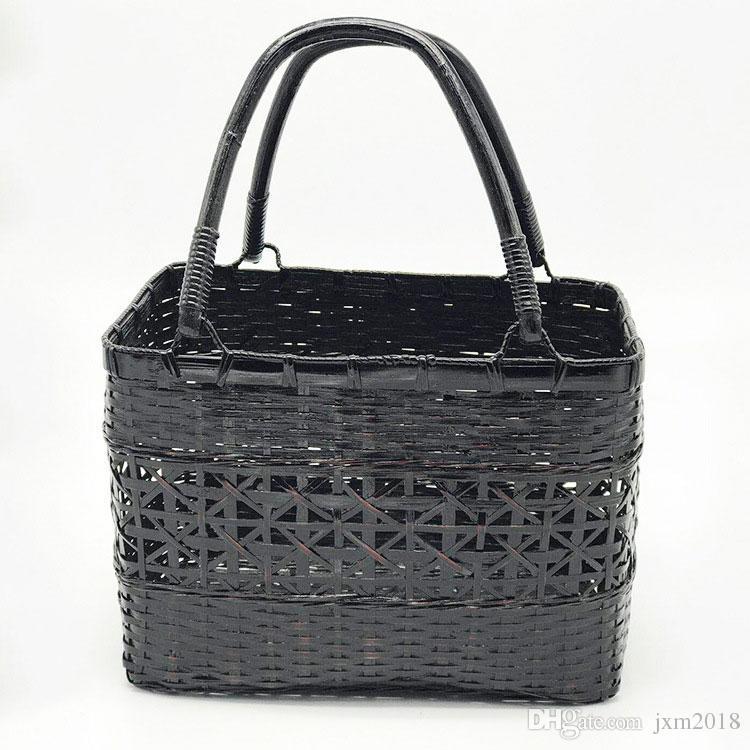 Nature Handmade Bamboo Handbags Bamboo Weaving Vintage Handbag