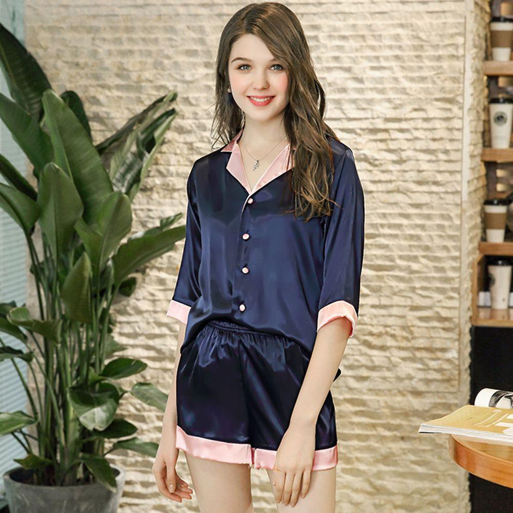 f93750874d9bfa 2018 neue Sommer Herbst Catwalk Modelle Satin Pyjama Set Frauen Sexy Faux  Silk Short Pyjamas Nightgown zweiteilige Robe Nachtwäsche pj Y18102205