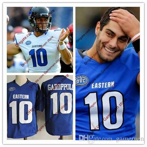 pretty nice da9a5 ed329 Custom NCAA Eastern Illinois Panthers Jersey 2 COLBY BARNES Hot Sale Jimmy  Garoppolo Blue Stitched FCS College Football Jersey S-3XL