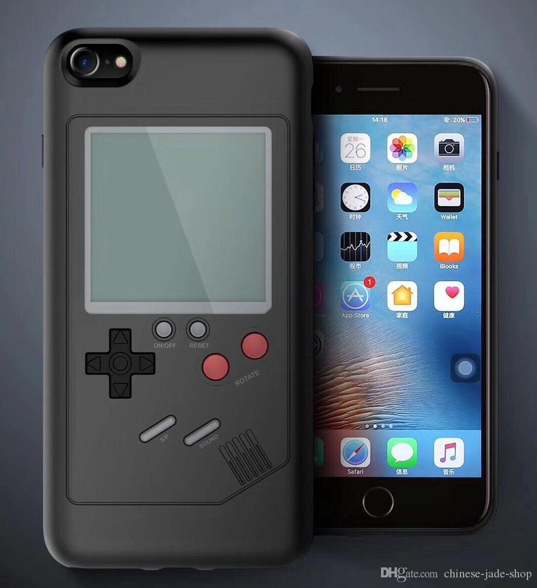 3D Russian Game Retro Game Consoles Phone Back Game case TPU for iPhone X 6 6s 7 8 plus Cover Shockproof Protection Shell Retail package 30P