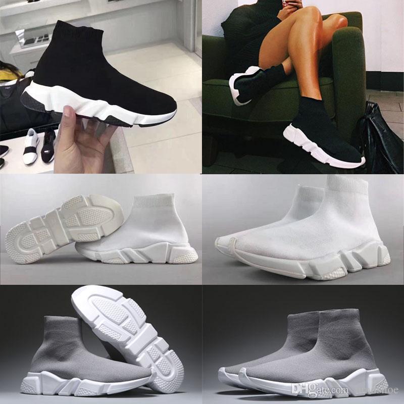 Acquista Nuovo Speed Trainer Sock Shoes Uomo Di Alta Qualità Donna Triple  Nero Bianco Rosso Borgogna Casual Speed Sneakers Media Elasticizzata Taglia  35 ... 42e2435bb6d