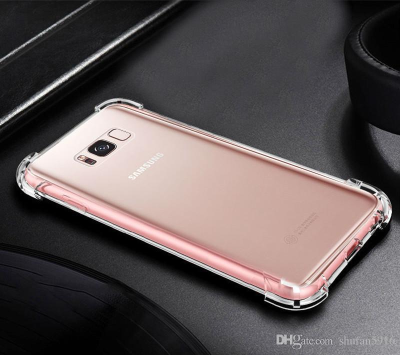 Iphone xr için xs max 8 x 7 6 6 s samsung s9 s8 artı not 9 8 kapak yumuşak hava yastığı tpu akrilik için iphone8