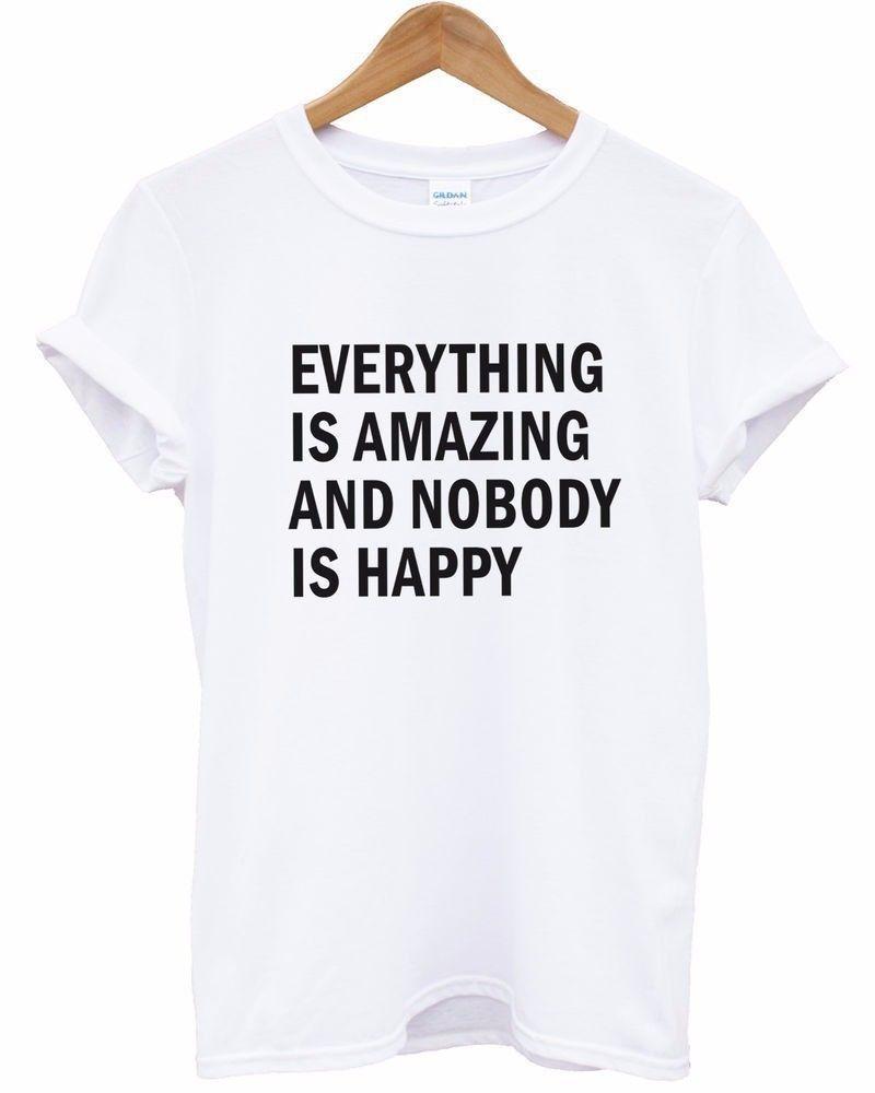 Compre T Shirts Para O Atacado Das Mulheres Tudo É Incrível E Ninguém É  Feliz Lazer Time Street T Pity Scoop Neck De Morning  sun06 638578e2b0e42