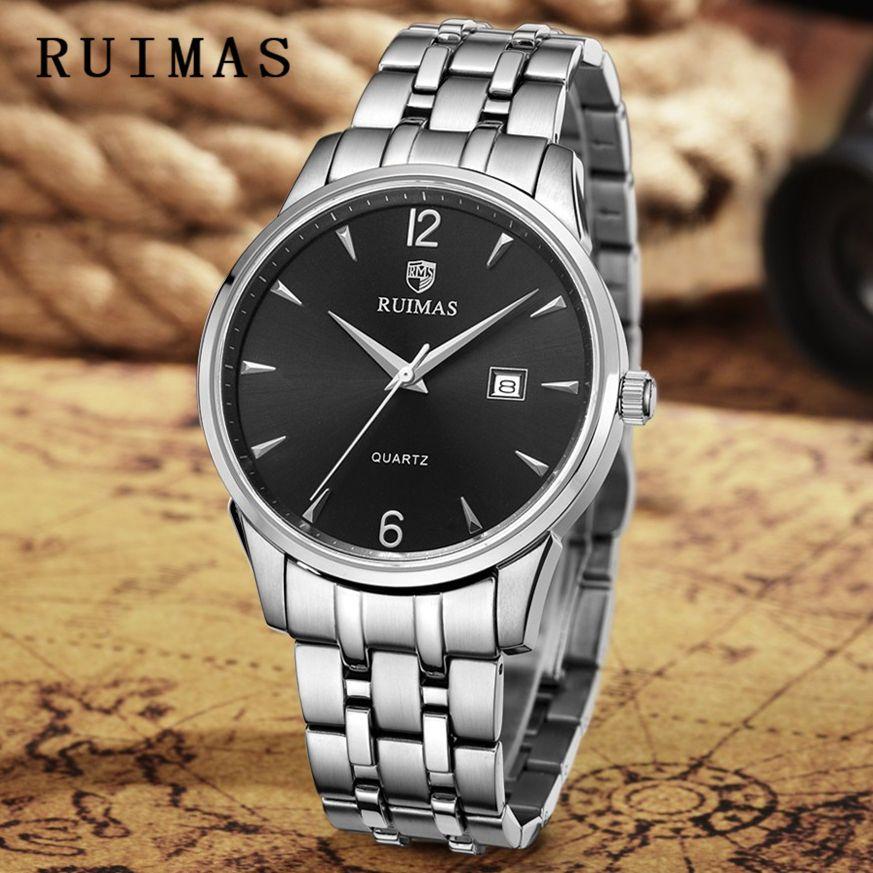 4c1e75def03 Compre Mens Clássico Relógio Top Marca De Luxo Homens De Negócios Moda  Relógios Vestido De Quartzo Relógios De Pulso Ruimas Simples Relógio  Masculino Reloj ...
