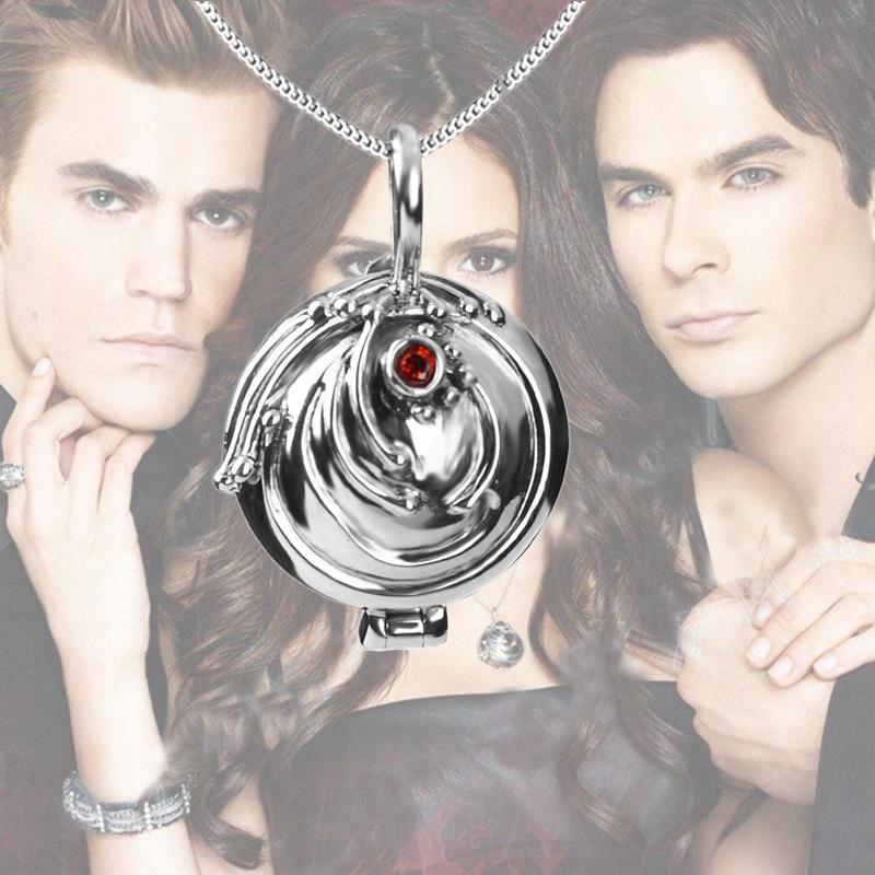 The Vampire Diaries Necklace Elena Vervain 925 Steling Silver Necklace  Verbena Locket Pendant Cosplay Jewelry Vervain