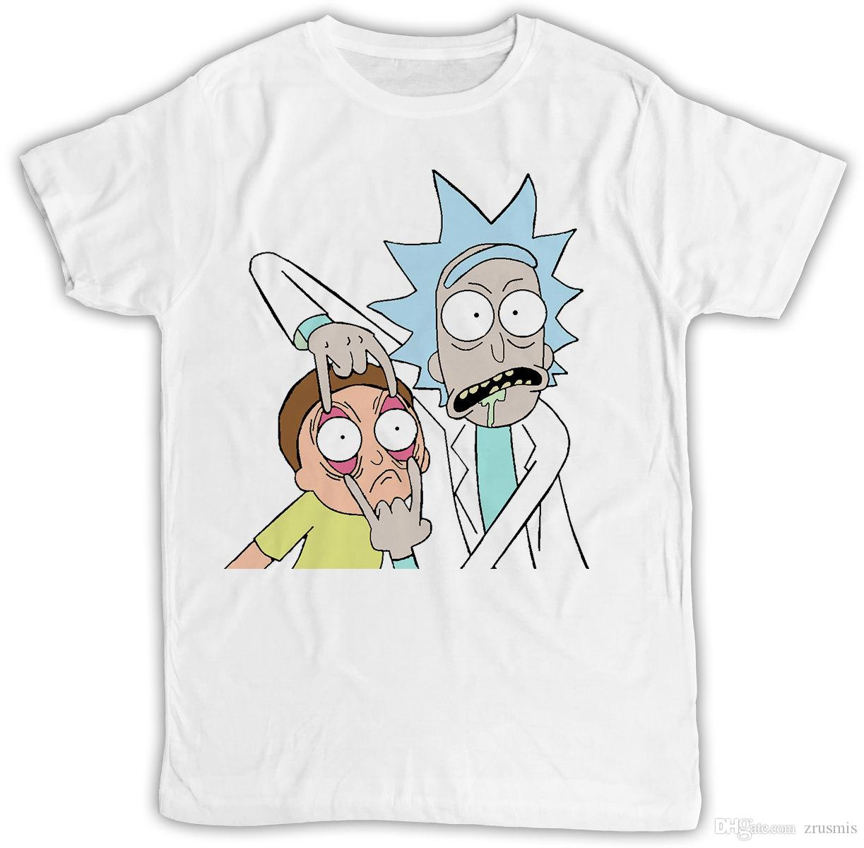 RICK AND MORTY POSTER OPEN EYES IDEAL BIRTHDAY GIFT SHORT SLEEVE MENS T SHIRT Poker Shirts Tshits From Zrusmis 1039