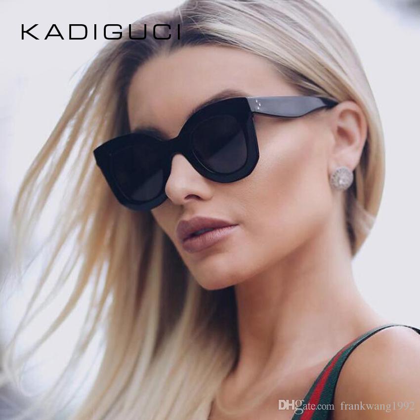 0acf403f342e1 KADEGUCI Fashion Sunglasses Women Luxury Brand Designer Vintage Sun Glasses  Female Rivet Shades Big Frame Style Eyewear UV400 K0123 Sunglasses For Women  Cat ...