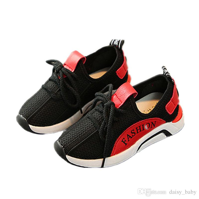 3b4adc68fd6a 2018 New Children Casual Shoes Boys Sneakers Girls Sport Shoes Kids Trainers  Breathable Running Shoes  7 Toddlers Sneakers Sale Girl Kid Shoes From ...
